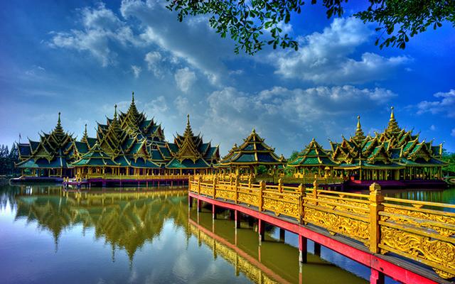 Quần thể Muang Boran đẹp và lộng lẫy