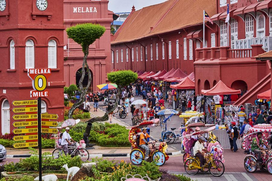thành phố cổ Malacca.