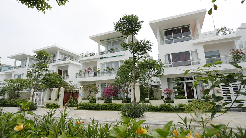 Qúy khách có thể tham quan khu biệt thự trong quần thể FLC Sầm Sơn